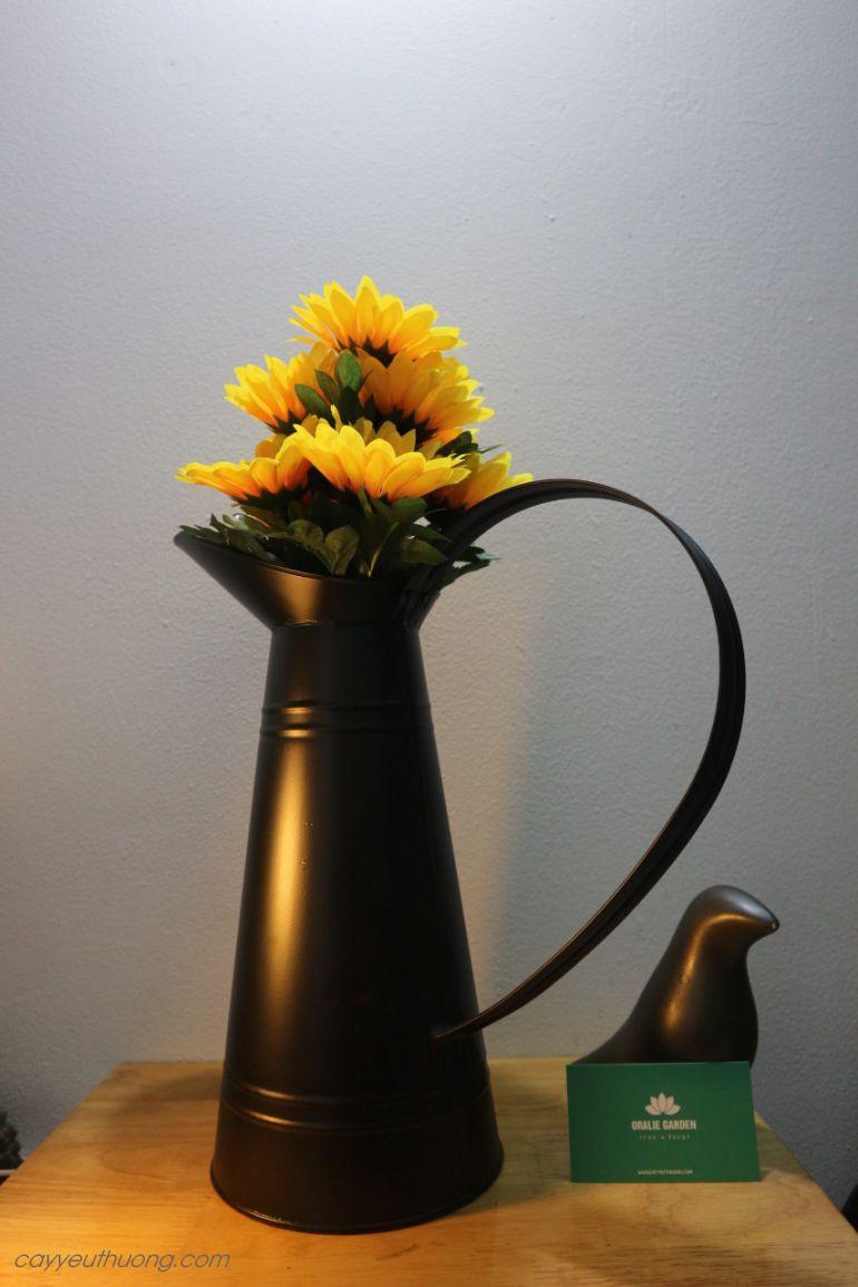 Bình cắm hoa decor có tay cầm