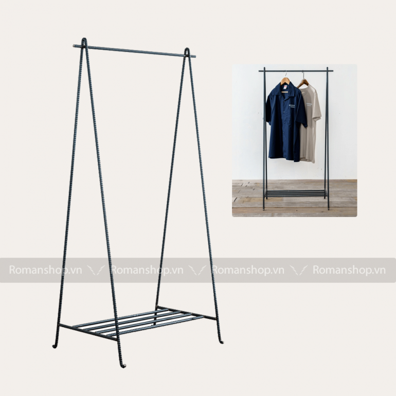 Giá treo quần áo bằng thanh thép