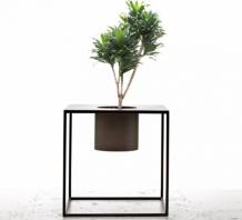 Chậu trồng cây khói vuông tối giản