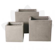 Chậu xi măng | đá mài vuông khối